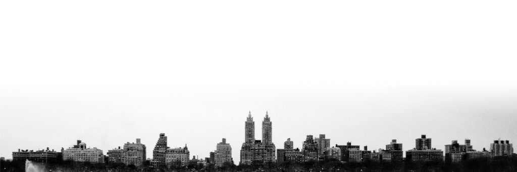 West Side in Black and white from Central park