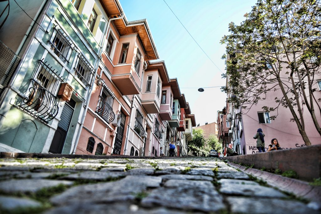 buildings, old, balat, istanbul, colorful, stones